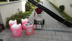 Pompa curatare instalatie solara