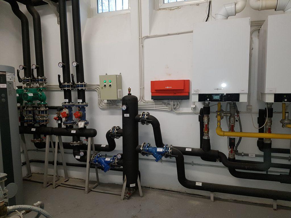 montaj centrale termice Vitodens 200-W cu butelie de egalizare
